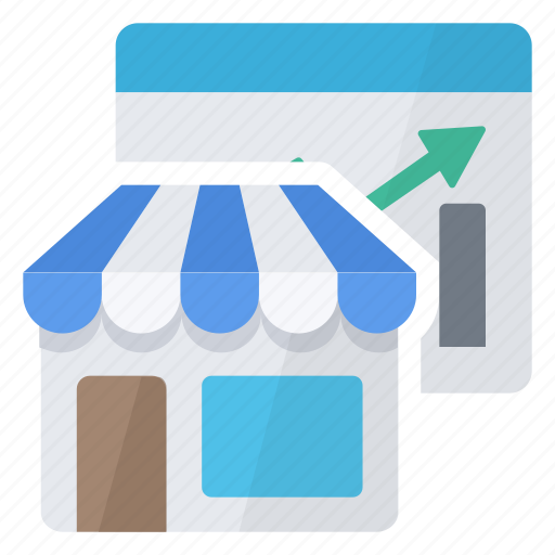 chart, graphics, market place, report, store icon
