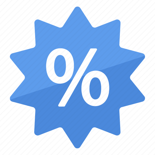 blue, deal, percentage, promo, reduction, sale icon
