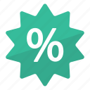 deal, discount, green, percentage, promo, reduction, sale icon