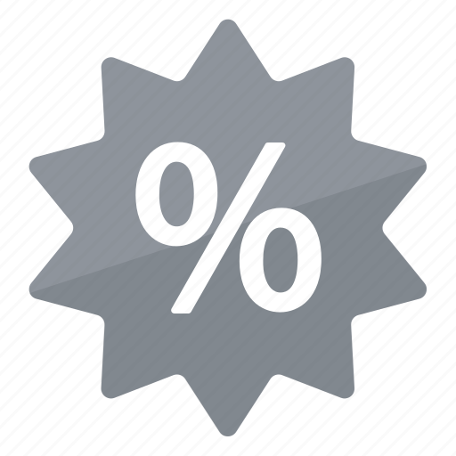deal, grey, percentage, promo, reduction, sale icon