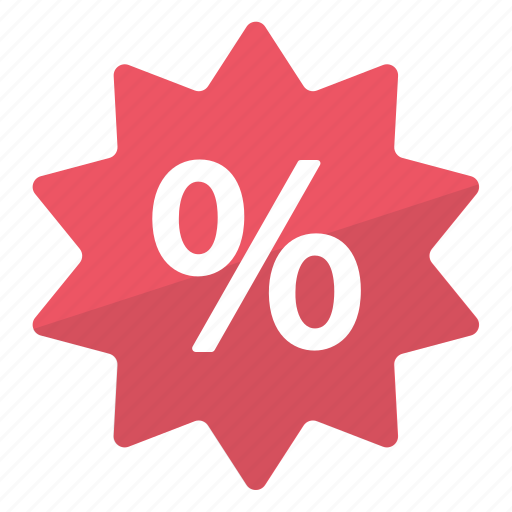 deal, percentage, promo, red, reduction, sale icon