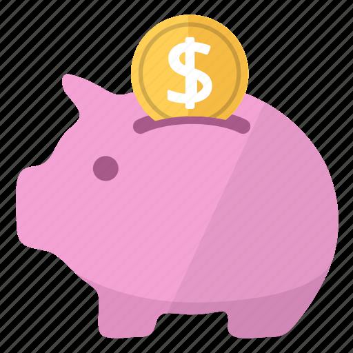 bank, coin, moneybox, piggy, piggy bank, pink, savings icon
