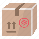 box, cardboard, package, product, shipment icon
