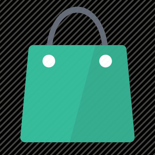 Bag, shopping, green icon