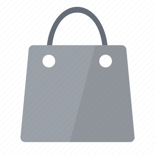 bag, grey, shopping icon