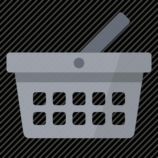 basket, cart, grey, shopping icon