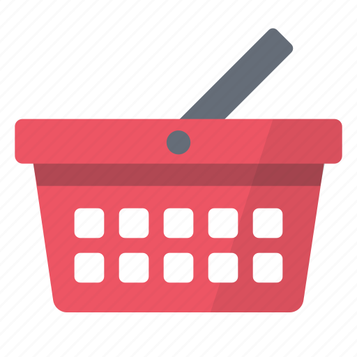 basket, buy, cart, products, red, shop, shopping icon