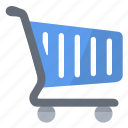 blue, mall, shopping, cart, supermarket