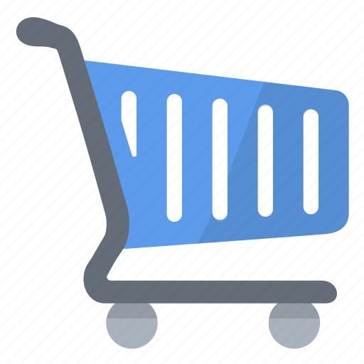blue, cart, mall, shopping, supermarket icon