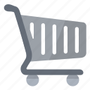 cart, grey, mall, shopping, supermarket icon