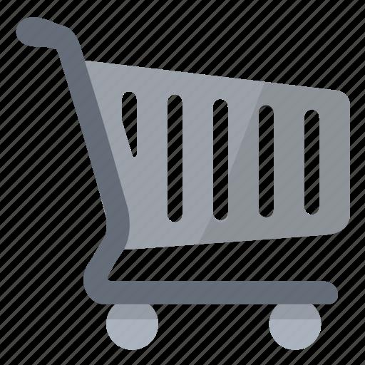cart, grey, mall, shopping, supermarket icon
