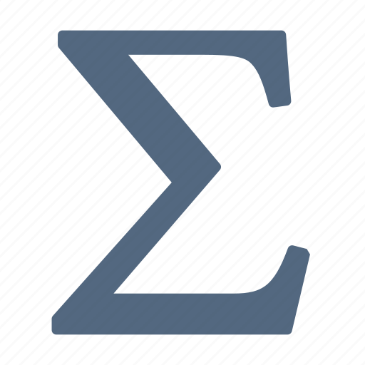 formulas, functions, greek, letter, math, mathematics, sum icon