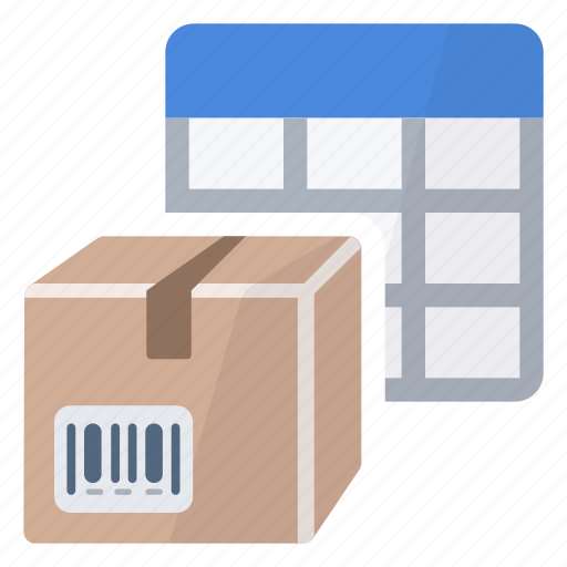 box, cells, package, product, table icon