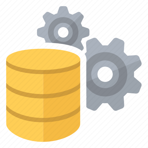 big, compute, data, database, gears, settings icon