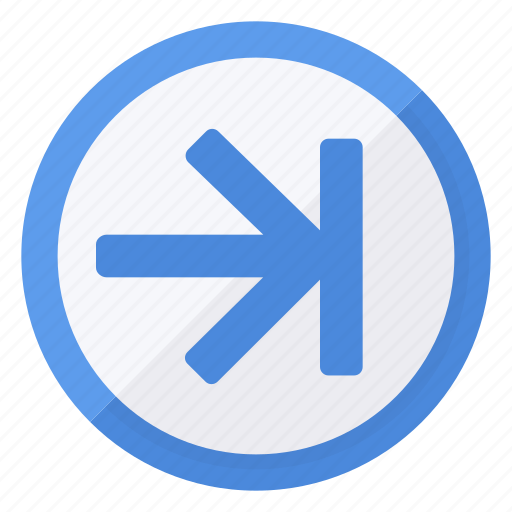 arrow, blue, browse, circle, last, white icon