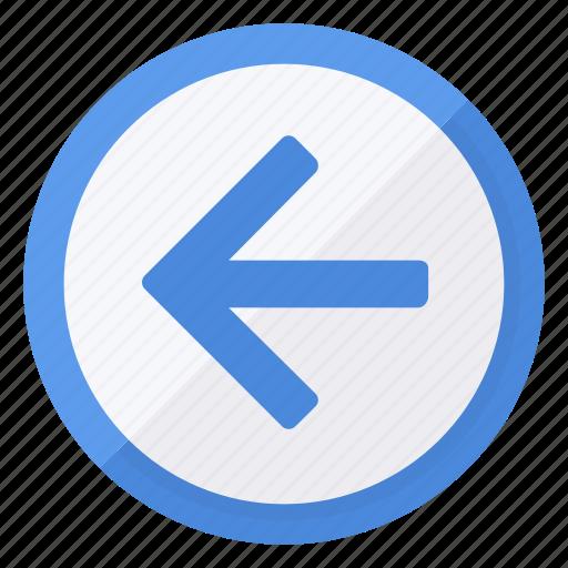 arrow, browse, circle, direction, left, navigation, previous icon