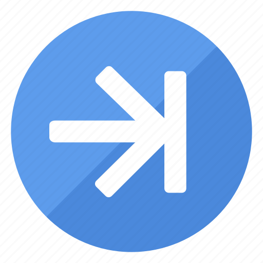 blue, browse, filledcircle, last, white icon