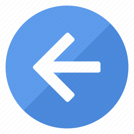 arrow, browse, direction, filledcircle, left, navigation icon
