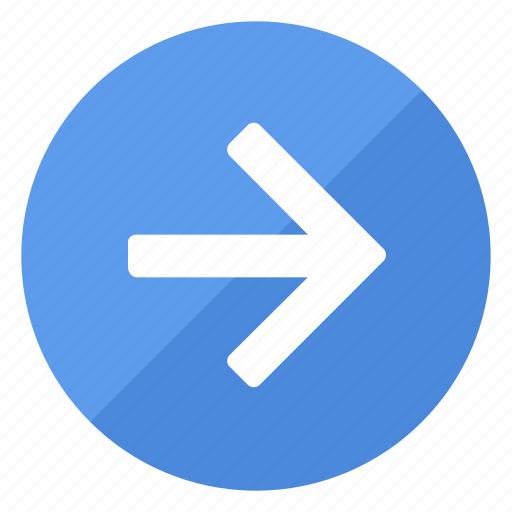 arrow, blue, browse, direction, filledcircle, navigation, right icon