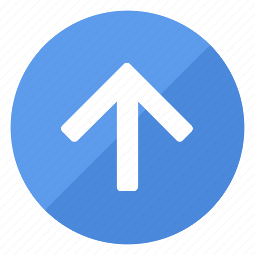 arrow, blue, browse, direction, filledcircle, navigation, up icon