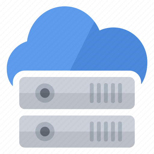blue, cloud, data, disk, hard, storage icon