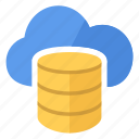 blue, cloud, data, database icon