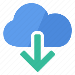 cloud, data, document, download, file icon