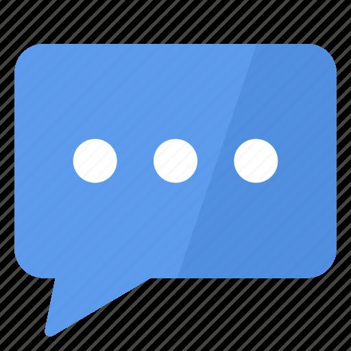 blue, comment, conversation, discuss, speak, talk, white icon
