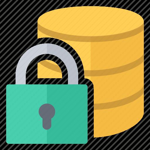 database, lock, password, protected icon