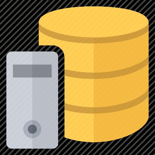 data, database, dedicated, documents, files, server icon