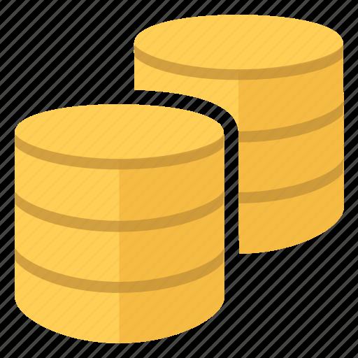 data, databases, documents, files, folders icon