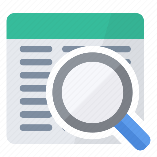 find, glass, lookup, magnifying, query icon