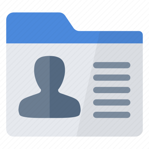 icon personal client record file user identity tab icons data open database 512px getdrawings