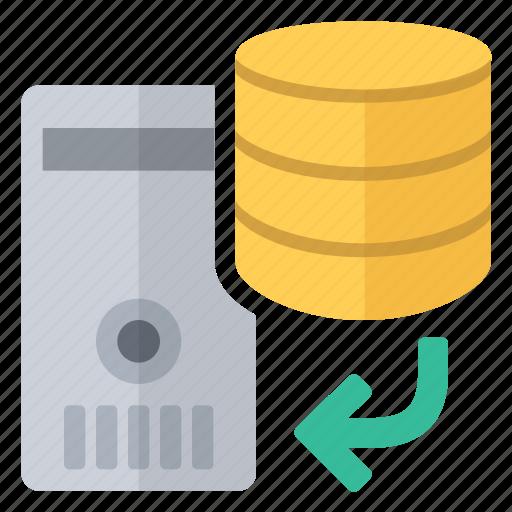data, database, documents, files, restore, server icon