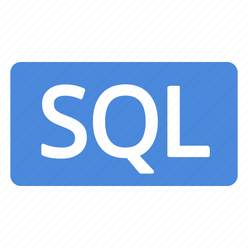 badge, blue, language, query, sql, structured, white icon