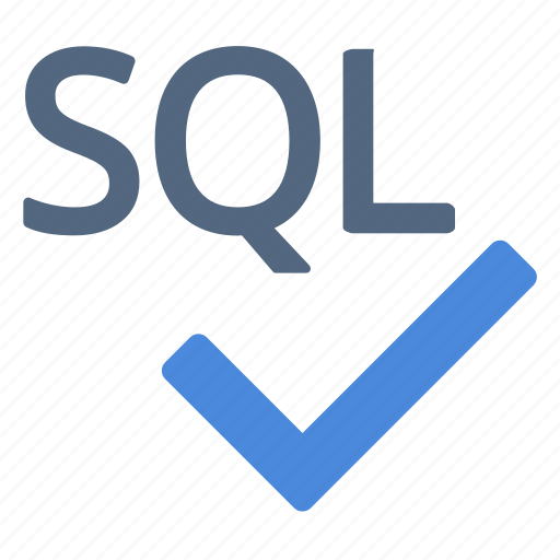 check, language, query, sql, structured icon