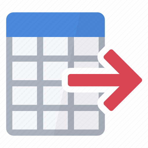 data, export, numbers, table, values icon