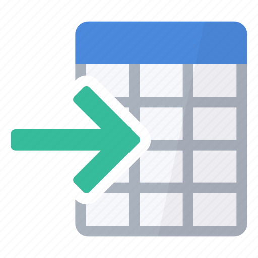 data, import, numbers, table, values icon