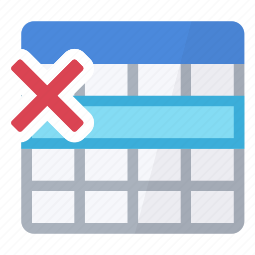 delete, erase, line, table icon