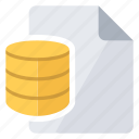data, database, document icon
