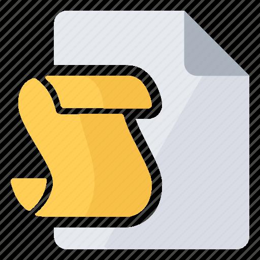 document, overlay, script icon