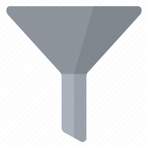 filter, funnel, gray icon