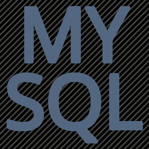 language, my, mysql, query, sql, structured icon