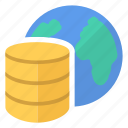 big, data, database, earth, world icon