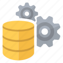 big, compute, data, database, gears icon