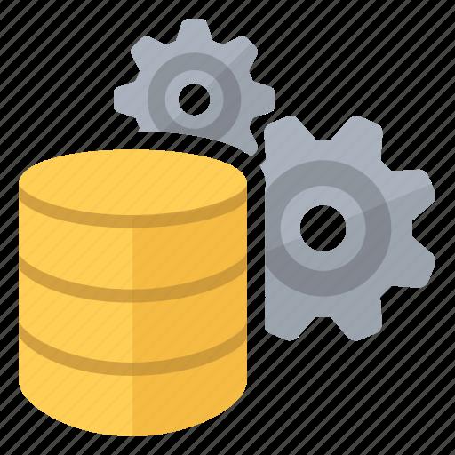 big, compute, data, database, gears icon