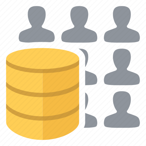 big, clients, data, database, people, users icon