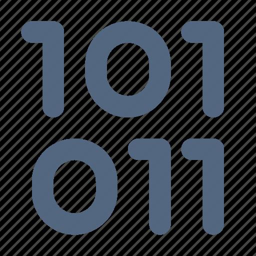 base, binary, one, two, type, zero icon