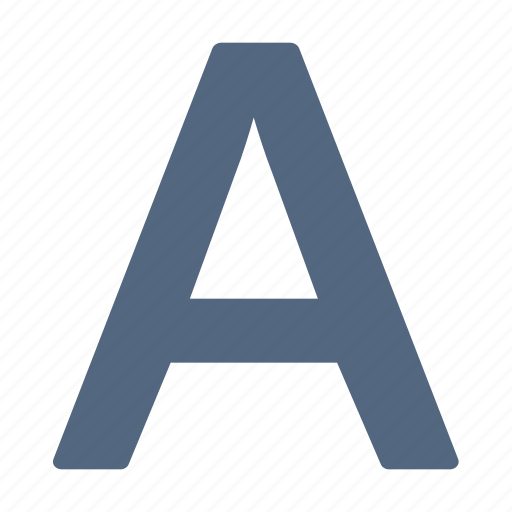 alphabet, char, character, letter, type icon