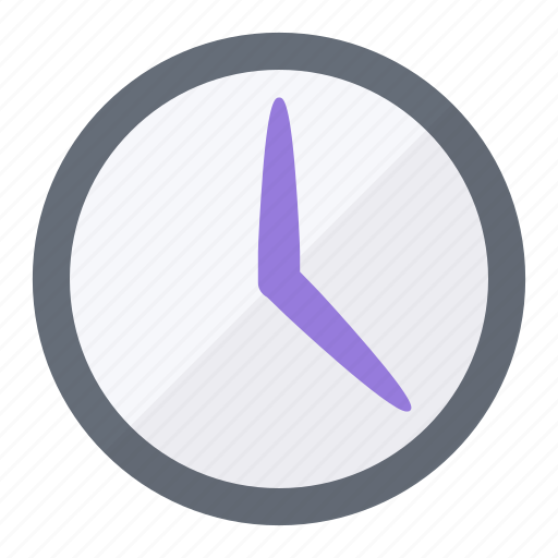 clock, hours, minutes, seconds, time, type icon